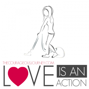 LOVE IS AN ACTION BLOG BUTTON